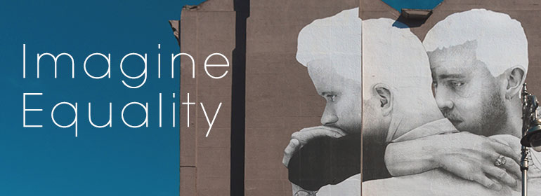 The Marriage Equality mural which is iconic for the achievement of marriage equality in Ireland, a subject which the radio documentary imagine equality covers