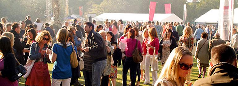 people enjoying the taste of dublin festival in the summer sun