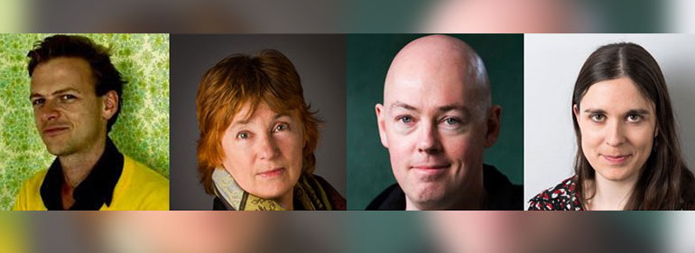 the four panellists at GCN Town Hall Talks on queer representations in Irish writing