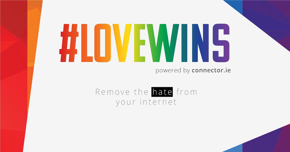The #lovewins tool which removes homophobic slurs from online content