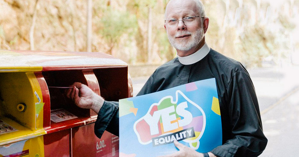 A reverend voting yes in Australia's same-sex marriage postal vote