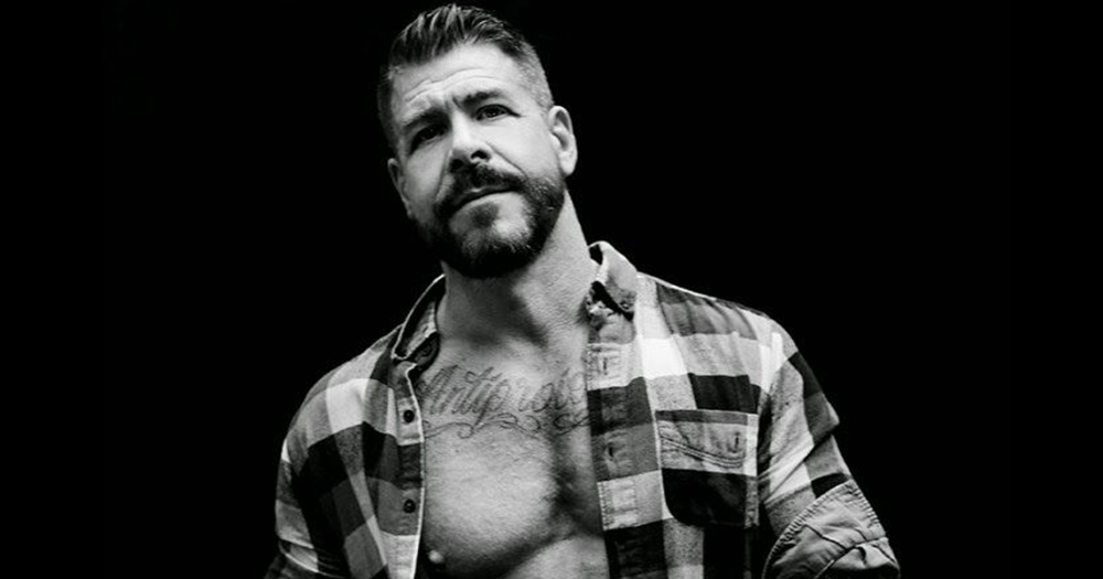 Rocco Steele wearing a plaid shirt