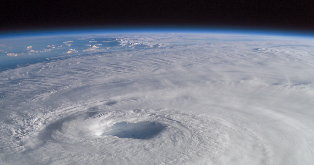 A picture of Hurricane Ophelia from space