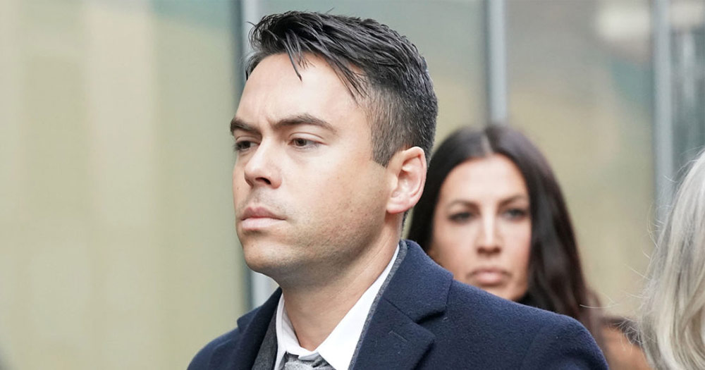 Bruno Langley pictured walked to court for his hearing on Tuesday