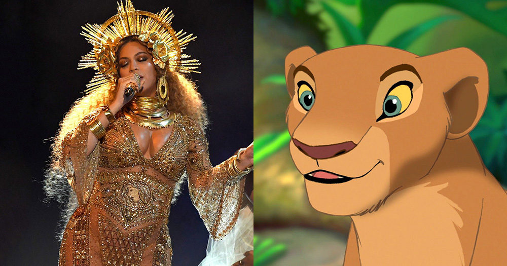 Beyoncé and Nala from Disney's The Lion King