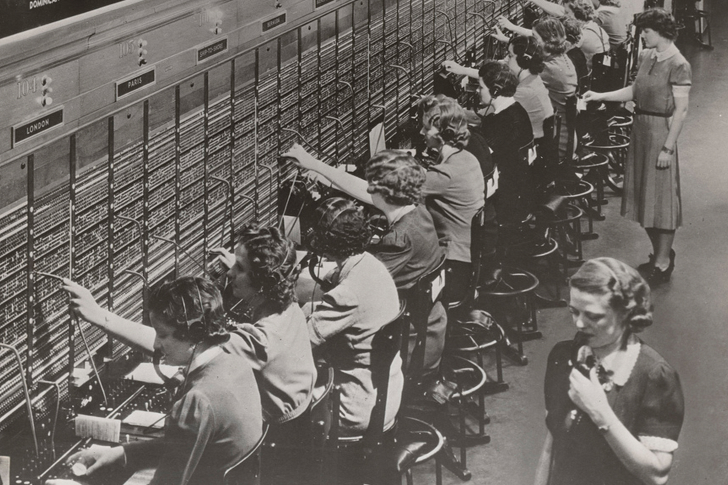 Archive photo of world war 2 switch board