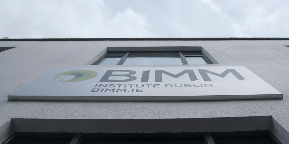 Building with BIMM: Institute Dublin BIMM.ie and view is taken from below.