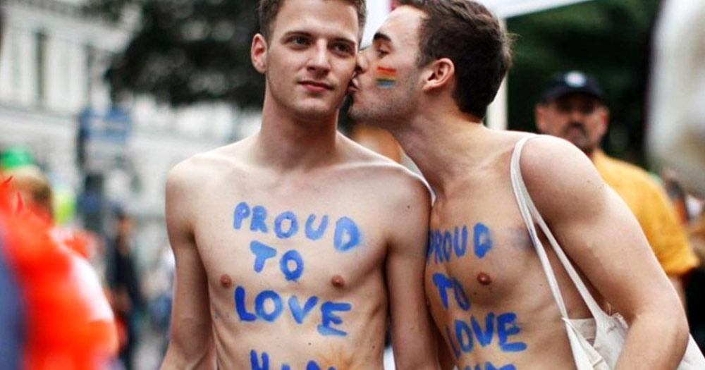 Two men at Austria Pride with