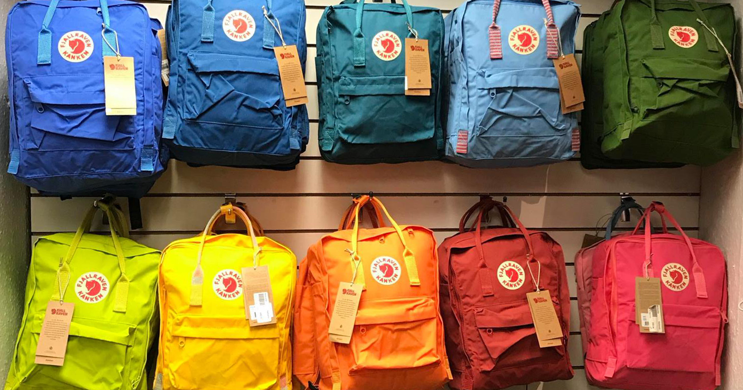 Basecamp coloured backpacks