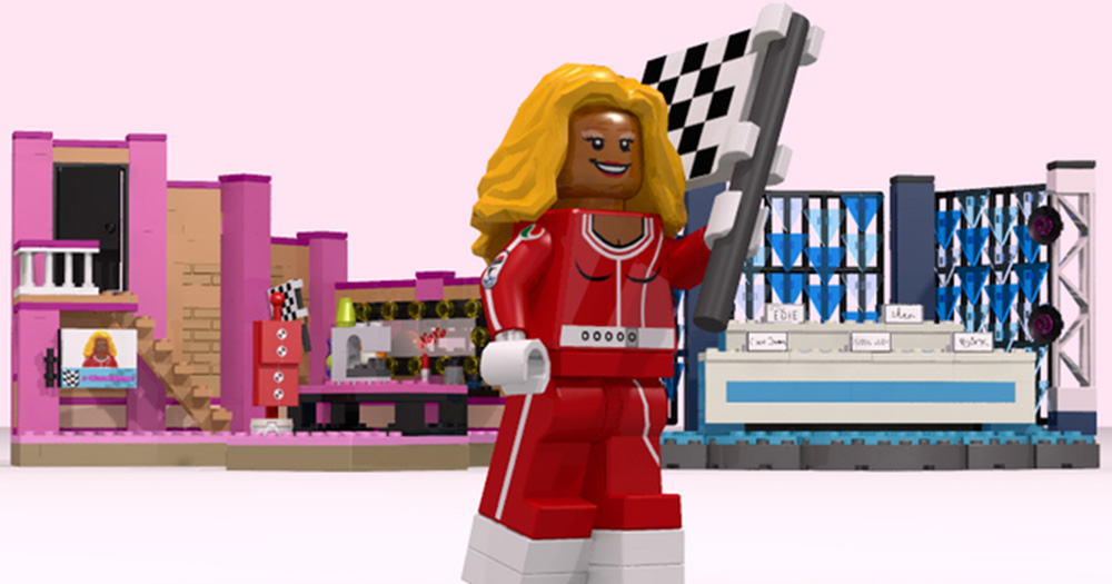 LEGO version of RuPaul
