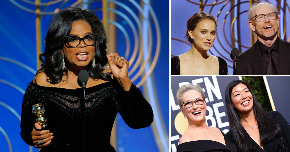 Highlights of the Golden Globes Oprah, Natalie Portman, Maryl Streep and Ai-Jen Poo