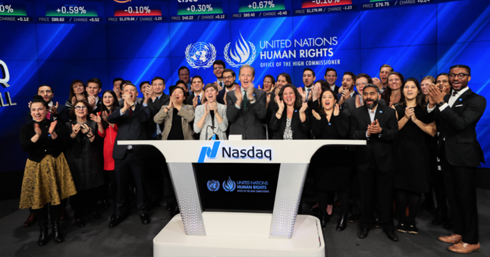 LGBTI UN Report Promotional Event At the NASDAQ