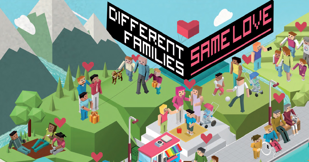 Different Families, Same Love Poster