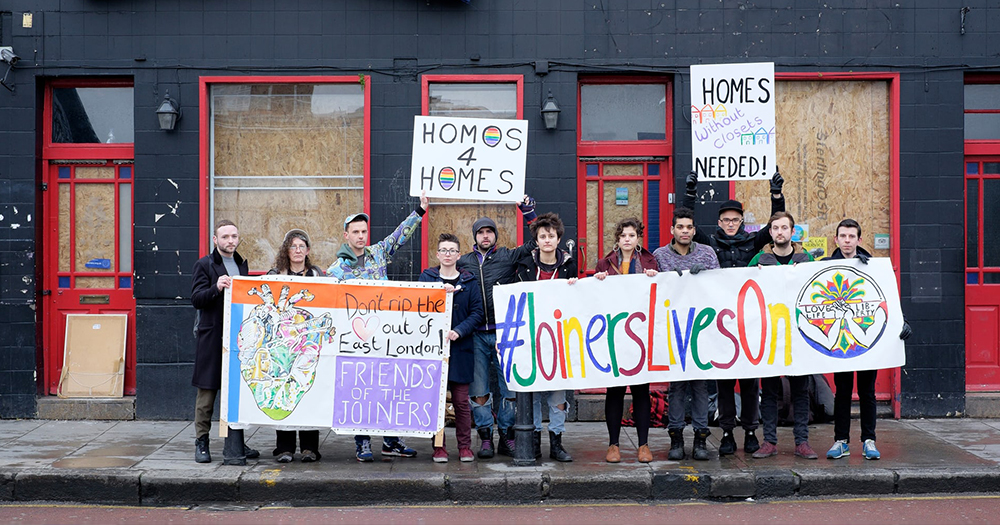 queer pub closed with LGBT+ activists protesting outside