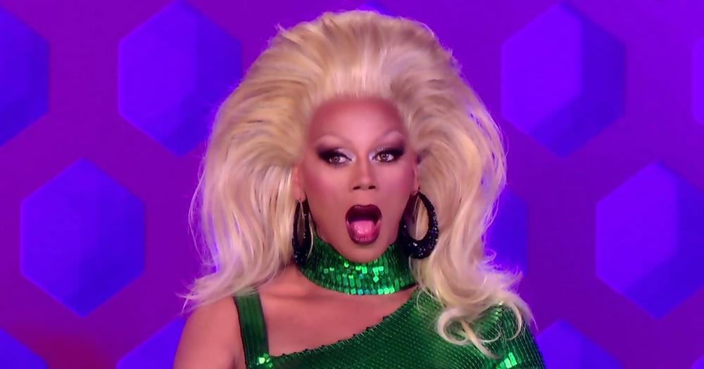 RuPaul looking shocked during an episode of Drag Race