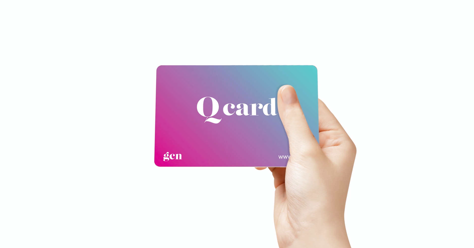 A hand holding GCN's Q Card