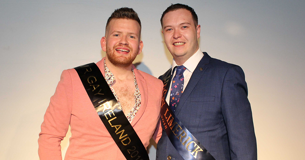 Mr Gay Ireland pictured with Mr Gay Limerick 2018