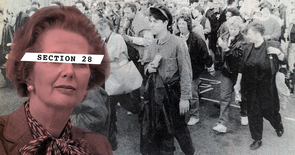 Thatcher introduced Section 28 which sparked protests accross Britain