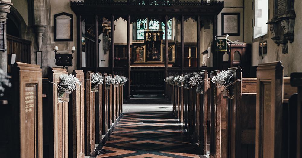 church aisle and altar