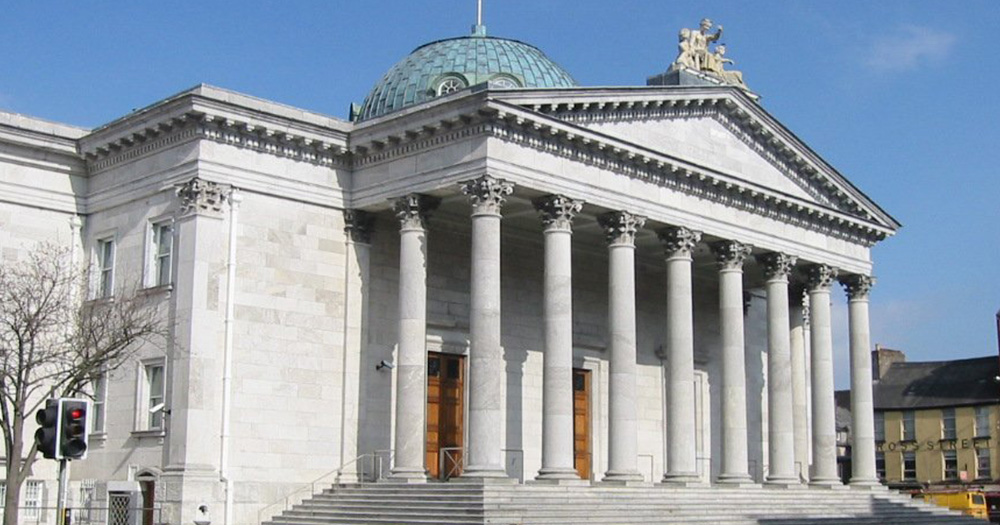 Exterior of Cork City court house where blackmail trial took place