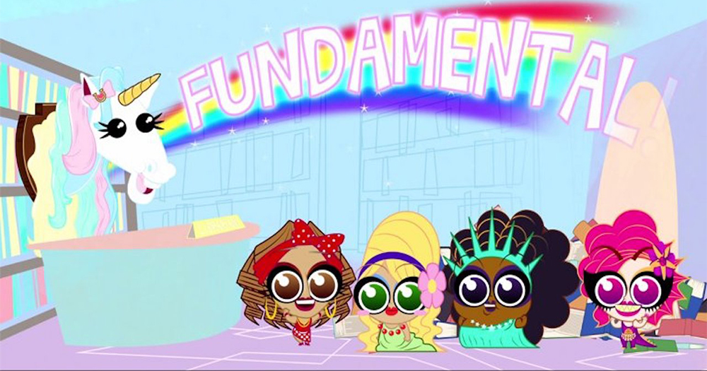 The animated characters from the series Drag Tots
