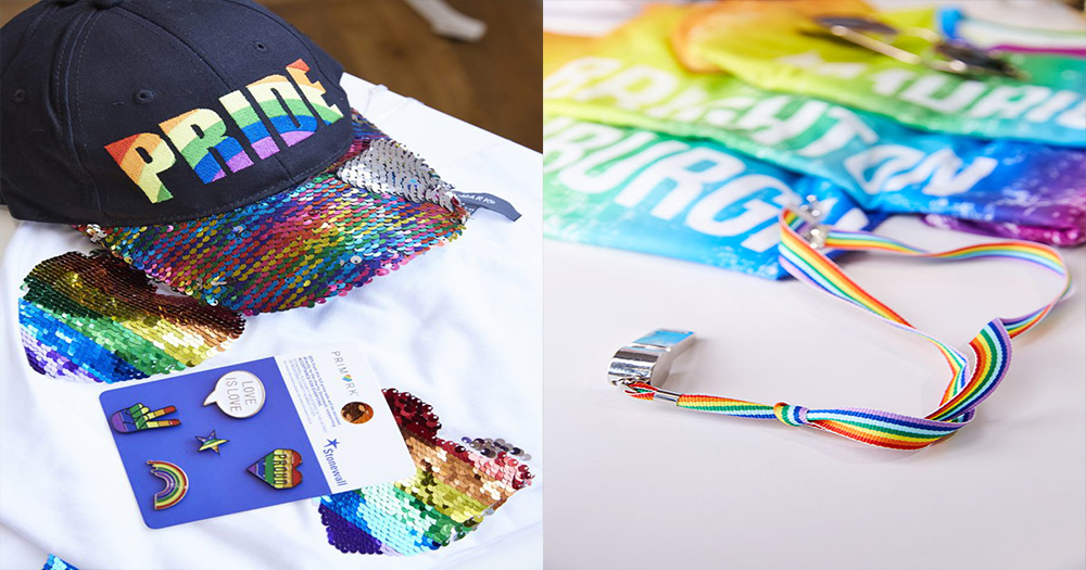 A selection of products from Primark's pride range