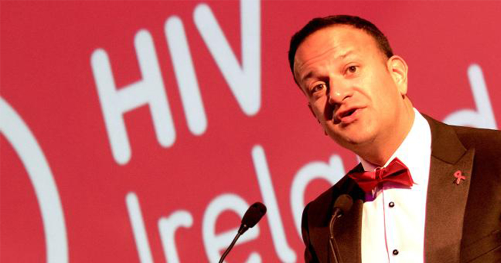 Leo Varadkar speaking about ending stigma at the HIV Ireland Red Ball