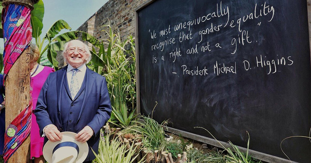 Michael D with his quote about gender at Bloom