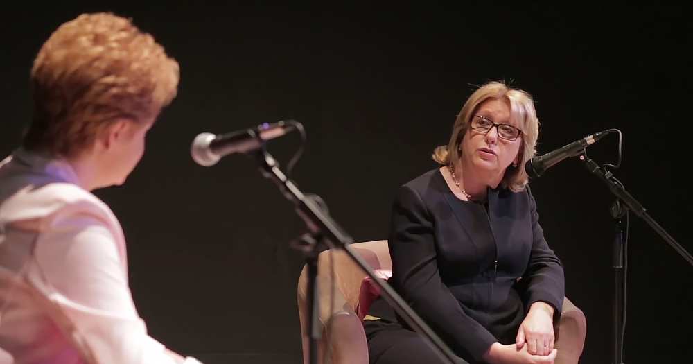 ursula halligan and Mary McAleese at the in conversation with event