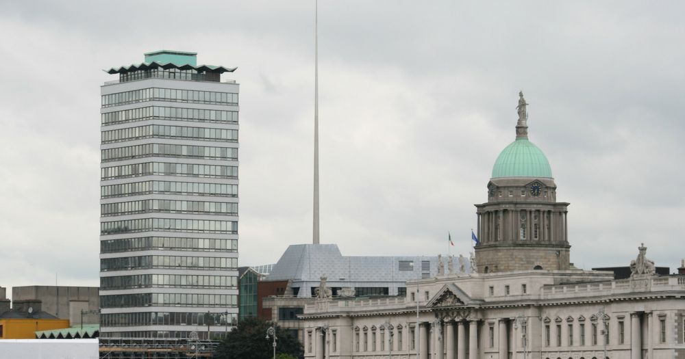 Famous Dublin landmarks, including Liberty Hall- the site of Ireland's first Pride march in 1983.