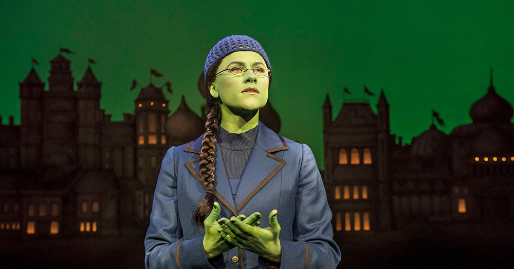 Still of Elphaba in the Wicked UK and Ireland tour