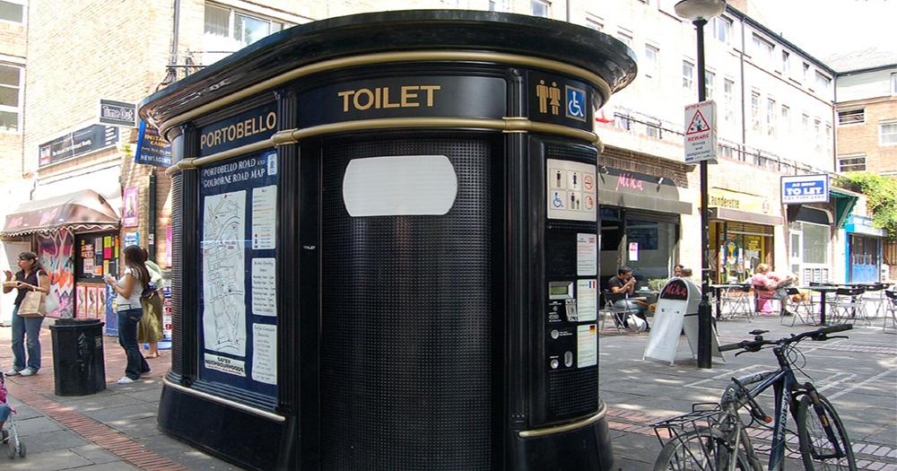 A public toilet on the street in Portobello, London