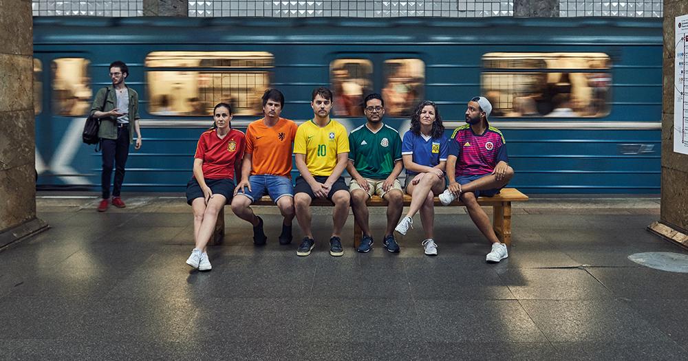 LGBT activists wear Rainbow jerseys in Russia