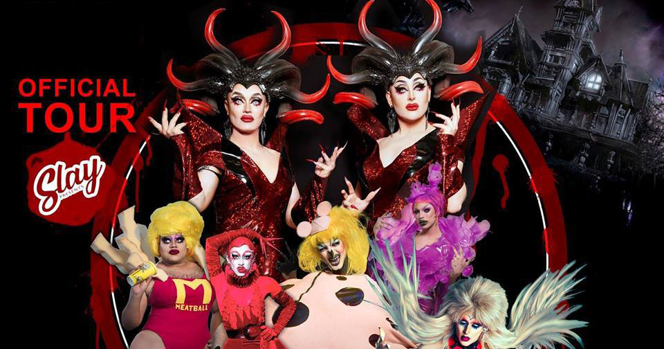 The hosts and contestants of horror drag show Dragula in a publicity poster