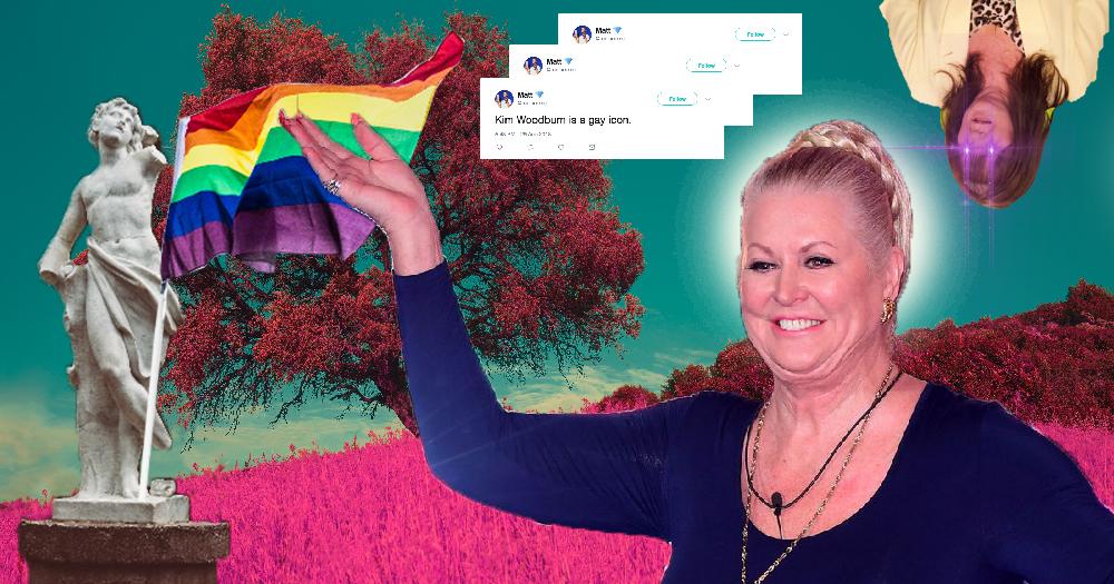 Kim Woodburn as a gay icon x