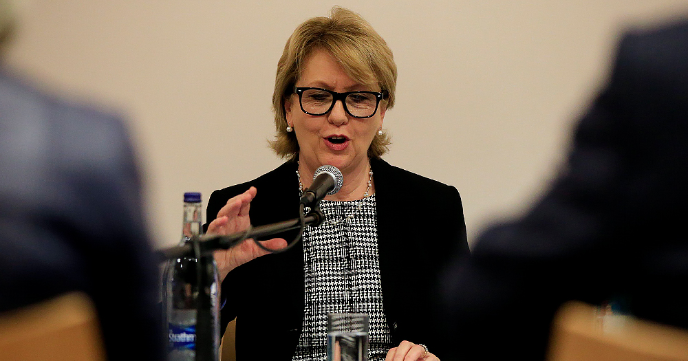 Mary McAleese giving a speech