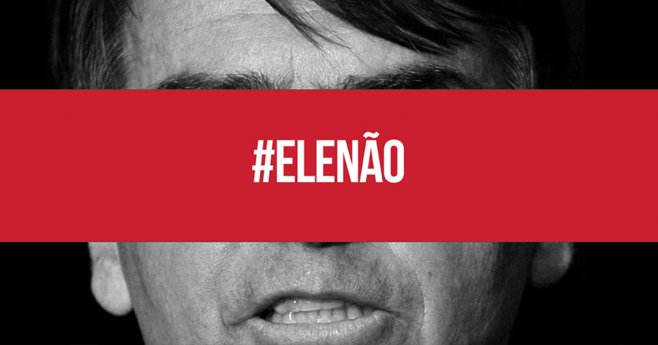 Hashtag of the social media campaign against  Brazilian politician