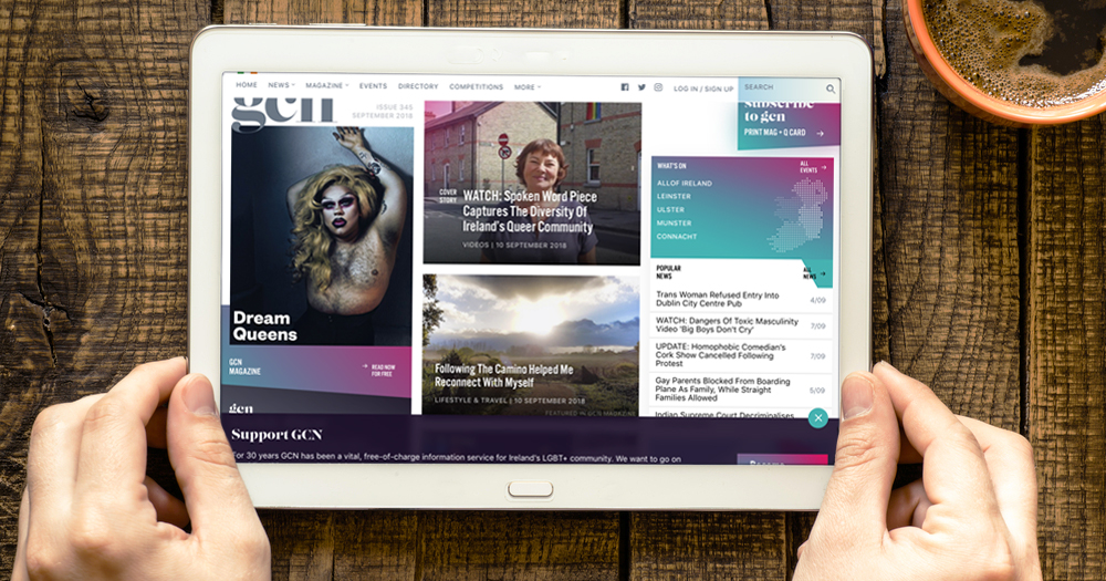 An image of GCN website on a tablet. GCN is currently recruiting for the position of Advertising Sales Assistant and Distribution Manager