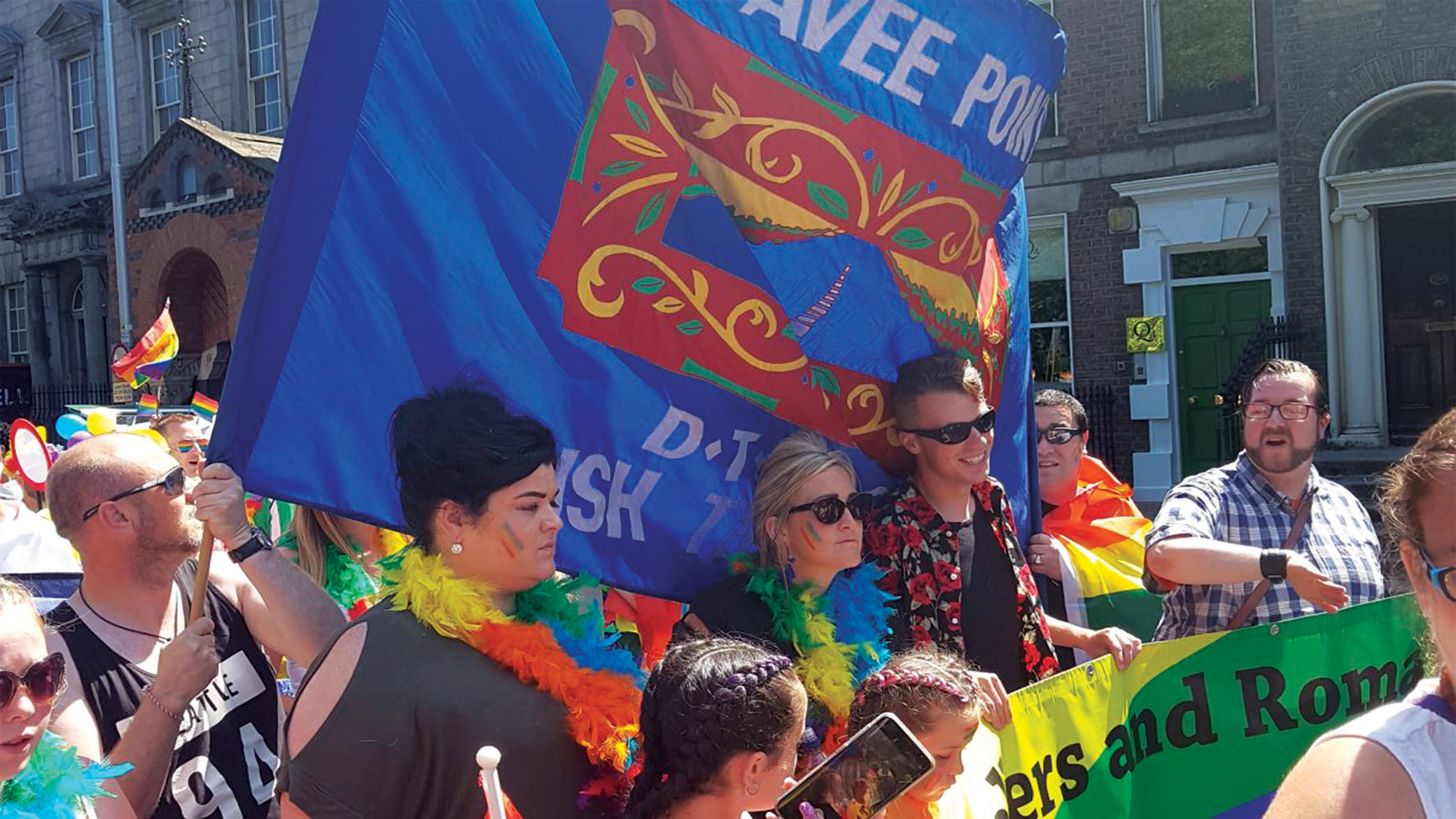 A group representing Pavee Point marching in Dublin Pride