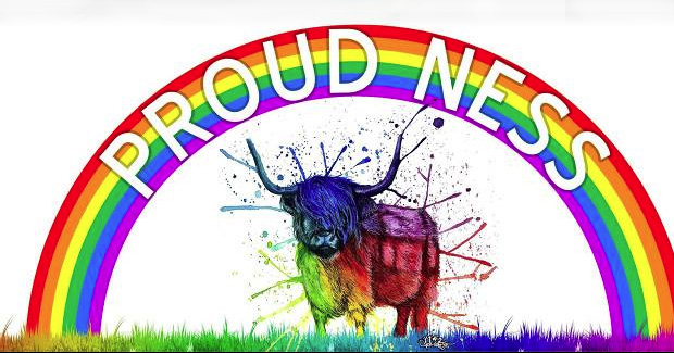 Image of the Proud Ness logo, the Scottish LGBT event.