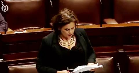Mary Lou McDonald addressing the Dáil.