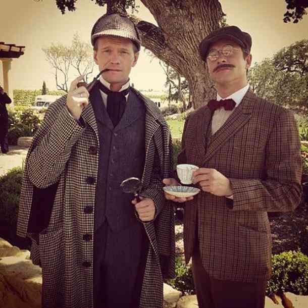 Sherlock Holmes and Watson Halloween costume