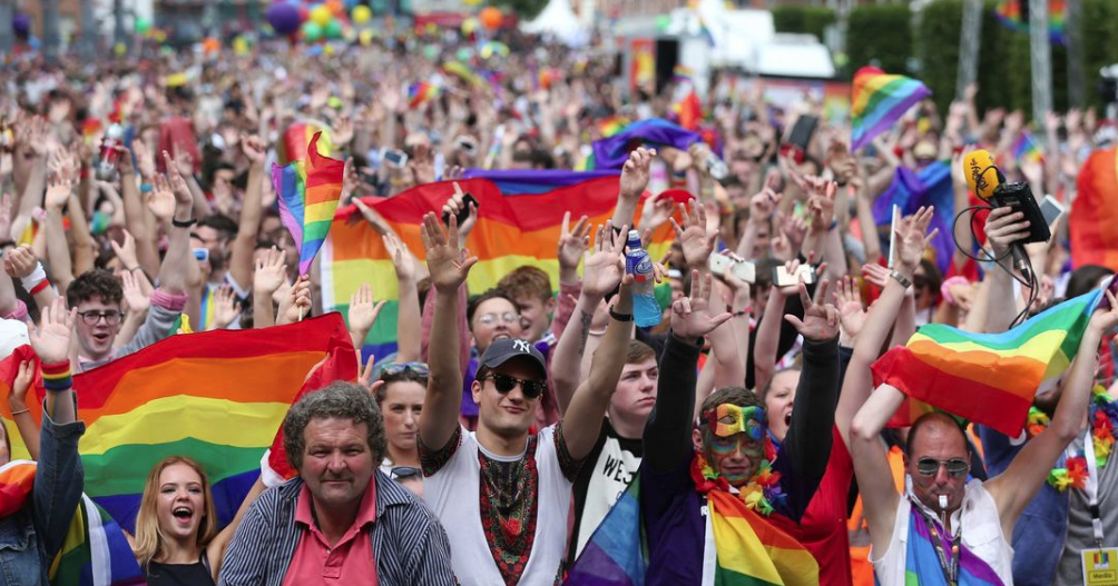 An image from Pride. The government have issued a callout on how best to improve LGBT+ rights.