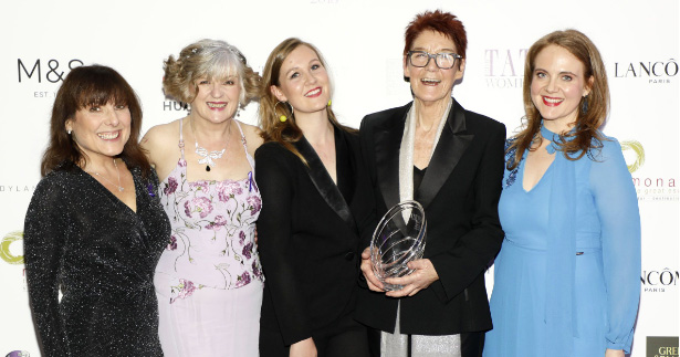 The five campaigners who were honoured at the awards ceremony.