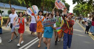 A pride march in Taiwan.