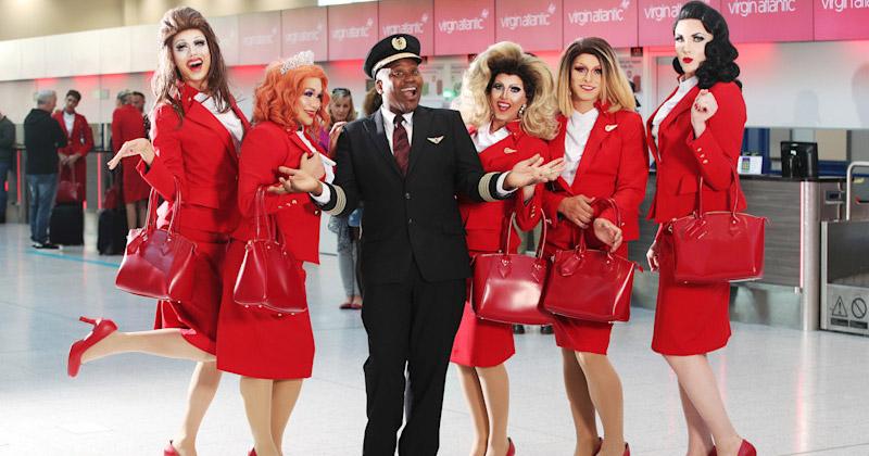 Virgin Airlines Pride flight