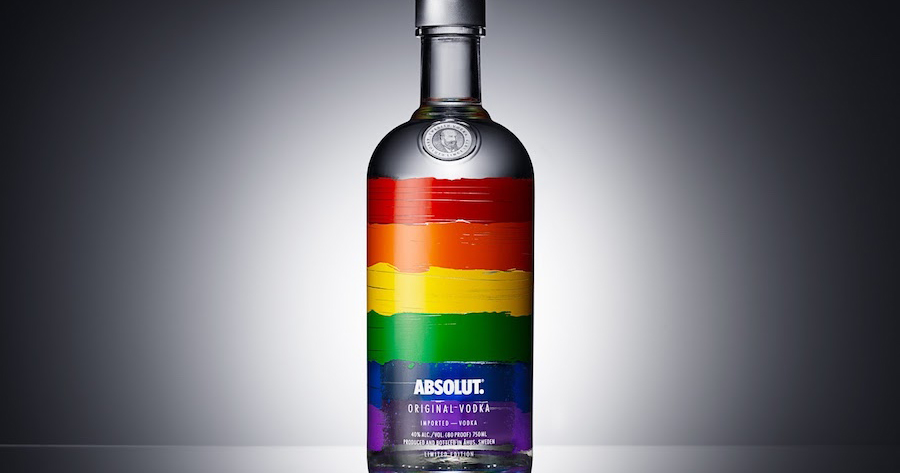 Absolut Vodka rainbow bottle