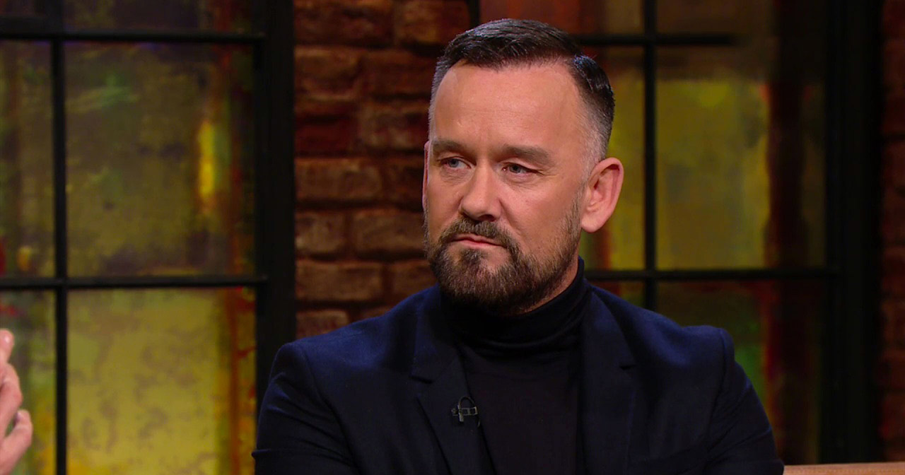 Brendan Courtney being interviewed on the Late Late Show