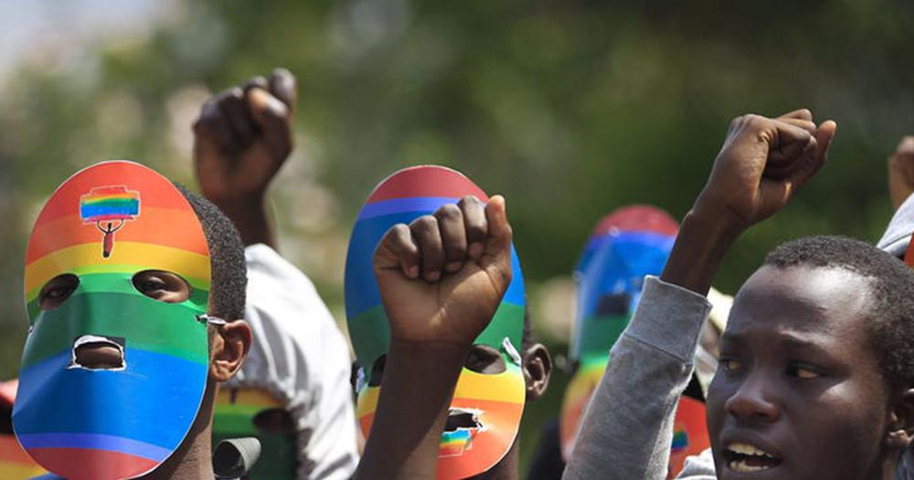 Tanzania LGBT+ protesters