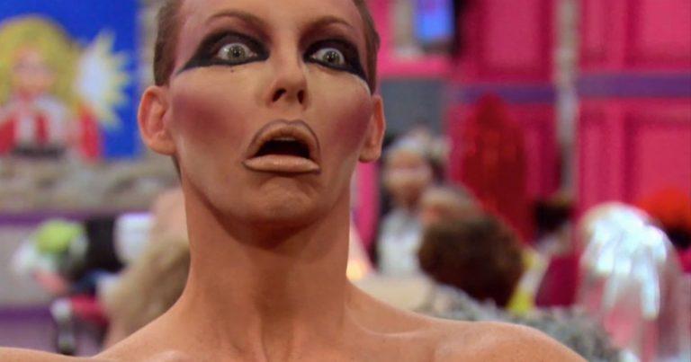 Drag Race Queen looking shocked